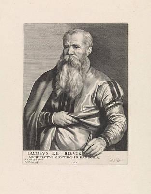 Portrait Of Architect Jacob Breuck, Paulus Pontius Print by Quint Lox