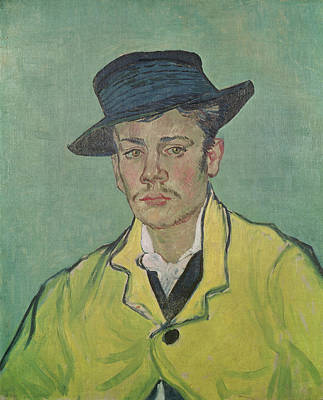 Backdrop Painting - Portrait Of Armand Roulin by Vincent Van Gogh