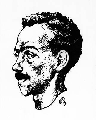 Portrait Of Arthur Rimbaud Print by Paterne Berrichon