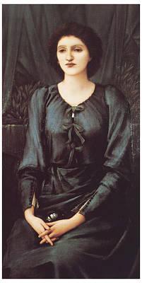 Portrait Of Baronne Madeleine Deslanders Print by Edward Burne-Jones