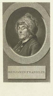 Benjamin Franklin Drawing - Portrait Of Benjamin Franklin, Lambertus Antonius Claessens by Lambertus Antonius Claessens