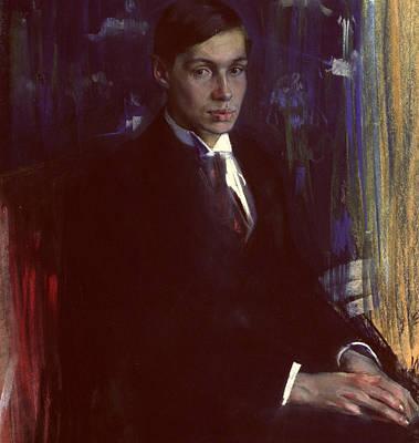 Youthful Painting - Portrait Of Boris Pasternak by A A Murashko