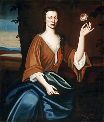 Partridge Painting - Portrait Of Catryna Van Rensselaer Ten Broeck by Nehemiah Partridge
