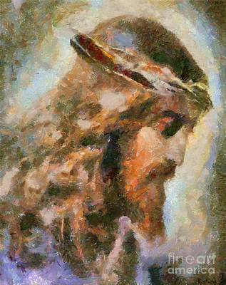 Sacred Painting - Portrait Of Christ by Dragica  Micki Fortuna