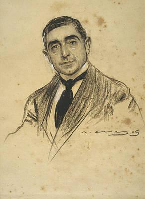 Portrait Of Dionis Baixeras Print by Ramon Casas