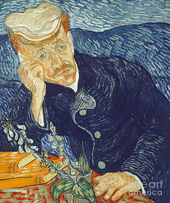 Wistful Painting - Portrait Of Dr Gachet by Vincent Van Gogh