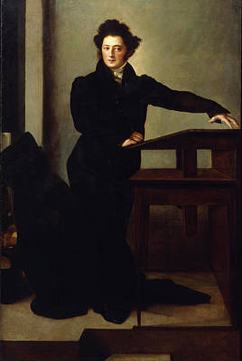 Portrait Of Eduard Gans 1829 Print by Wilhelm Hensel