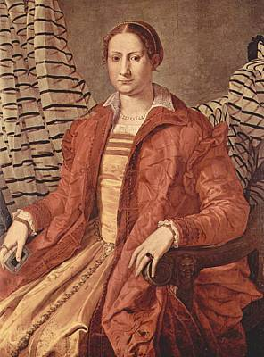 Eleonora Painting - Portrait Of Eleonora Of Toledo by Bronzino