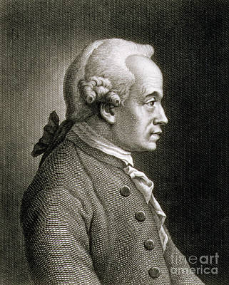 Intellect Drawing - Portrait Of Emmanuel Kant by French School