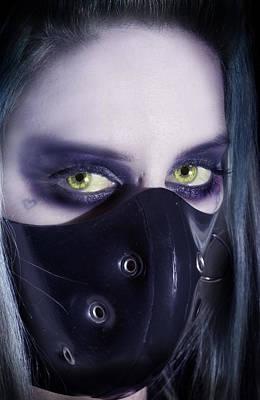 Fetish Digital Art - Portrait Of Evil by Nathan Wright