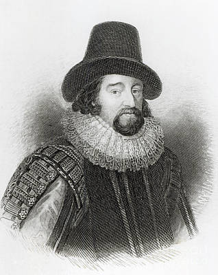 Portrait Of Francis Bacon Print by English School