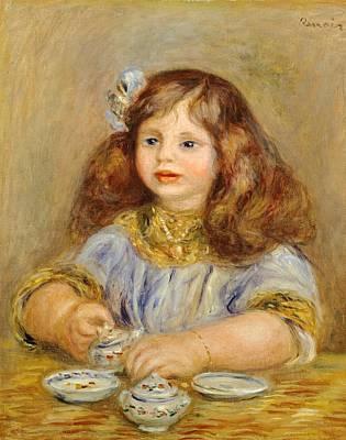 Bracelet Painting - Portrait Of Genevieve Bernheim De Villiers by Pierre-Auguste Renoir