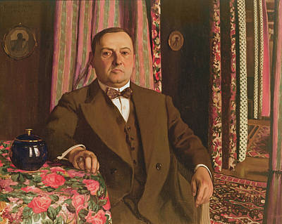 Portrait Of Georg E. Haasen, 1913 Oil On Canvas Print by Felix Edouard Vallotton