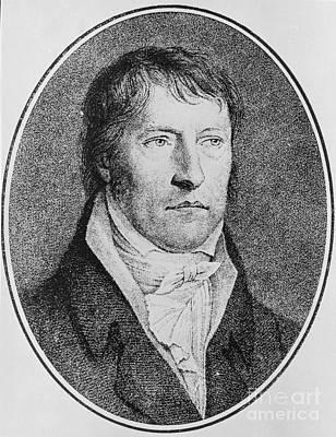 Border Drawing - Portrait Of Georg Wilhelm Friedrich Hegel  by FW Bollinger