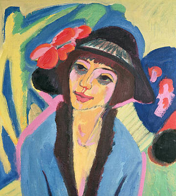 Hats Painting - Portrait Of Gerda by Ernst Ludwig Kirchner