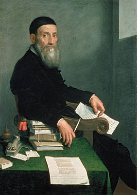 Paperweight Photograph - Portrait Of Giovanni Bressani Oil On Canvas by Giovanni Battista Moroni