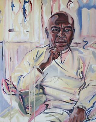 Hari E. Thomas Painting - Portrait Of Hari E. Thomas by Smael Laurent