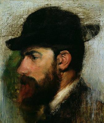 Portrait Of Henri Rouart Print by Edgar Degas