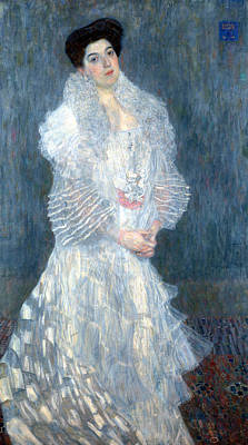 Portrait Of Hermine Gallia Print by Gustive Klimt