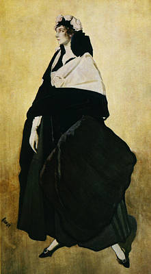 Portrait Of Ida Lvovna Rubinstein Print by Leon Bakst