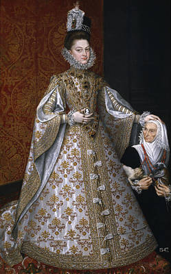 Portrait Of Isabel Clara Eugenia And Magdalena Ruiz Print by Alonso Sanchez Coello