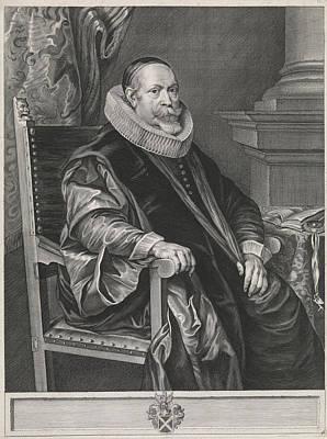 Portrait Of Jacob Roelants 1568-1651, Paulus Pontius Print by Paulus Pontius And Thomas Willeboirts Bosschaert