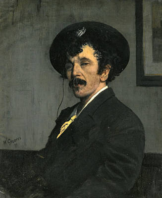 James Abbott Mcneill Whistler Painting - Portrait Of James Abbott Mcneill Whistler by Walter Greaves