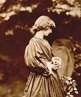Parsons Photograph - Portrait Of Jane Morris by John Parsons
