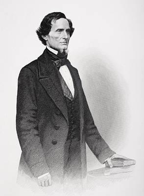 Southern Drawing - Portrait Of Jefferson Davis by Mathew Bardy