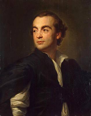 Anton Raphael Mengs Painting - Portrait Of Johann Joachim Winckelmann by Anton Raphael Mengs