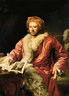 Anton Maron Painting - Portrait Of Johann Joachim Winckelmann by Anton von Maron