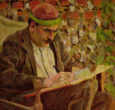 Academic Painting - Portrait Of John Maynard Keynes by Roger Eliot Fry