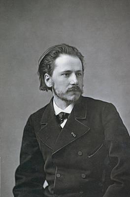 Lapel Photograph - Portrait Of Jules Emile Massenet by French Photographer