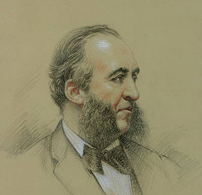 Shine Drawing - Portrait Of Jules Ferry by Paul Sarrut