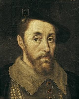 Portrait Of King James I. 17th C Print by Everett