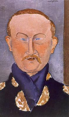 Portrait Of Leon Bakst Print by Amedeo Modigliani