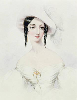 Portrait Of Lola Montez Print by Camille Joseph Roqueplan