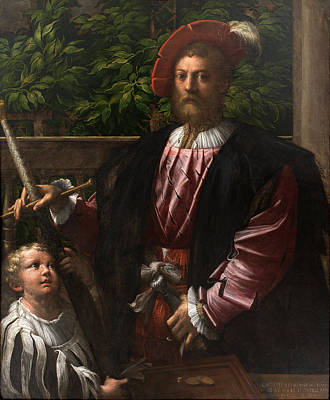 Parmigianino Painting - Portrait Of Lorenzo Cybo by Parmigianino