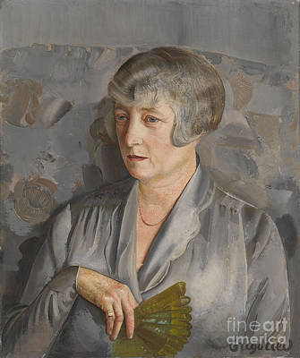Putin Painting - Portrait Of Madame Barthelemy With A Green Fan by Celestial Images