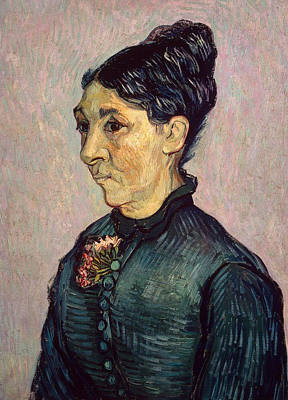 Portrait Of Madame Jeanne Lafuye Trabuc Print by Vincent Van Gogh