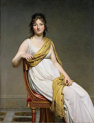 Raymond Painting - Portrait Of Madame Raymond De Verninac by Jacques Louis David