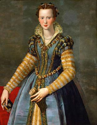 Eleonora Painting - Portrait Of Maria De Medici Or Eleonora Di Garzia Di Toledo by Alessandro Allori