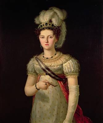 Portrait Of Maria Josephine Amalia Of Saxony Print by Francisco Lacoma