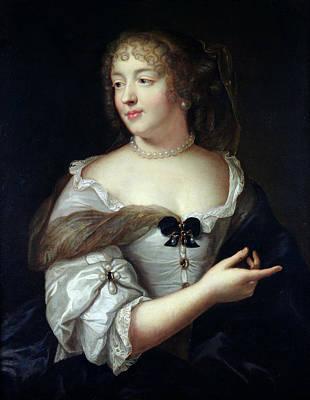 Portrait Of Marie De Rabutin-chantal, Madame De Sevigne 1626-96 Oil On Canvas Print by Claude Lefebvre