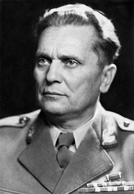 Portrait Of Marshal Tito Print by Underwood Archives