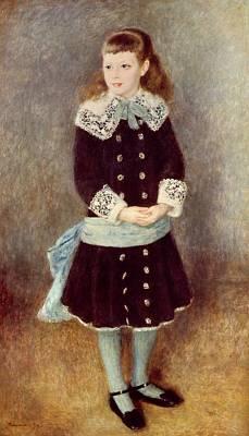 Portrait Of Martha Berard Print by Pierre-Auguste Renoir