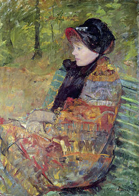 Cassatt Painting - Portrait Of Mlle by Celestial Images