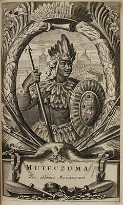 Ent Photograph - Portrait Of Montezuma II by British Library