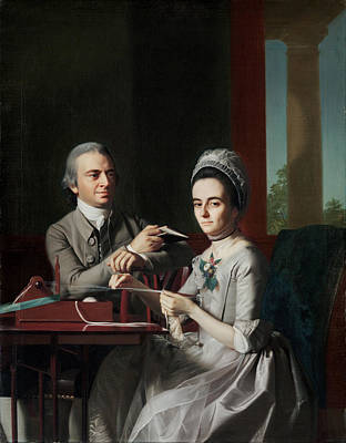 John Singleton Copley Painting - Portrait Of Mr And Mrs Thomas Mifflin by John Singleton Copley