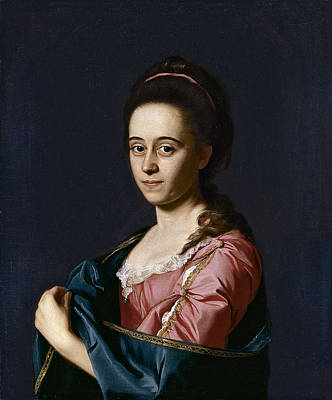 John Singleton Copley Painting - Portrait Of Mrs Joshua Henshaw II . Catherine Hill by John Singleton Copley